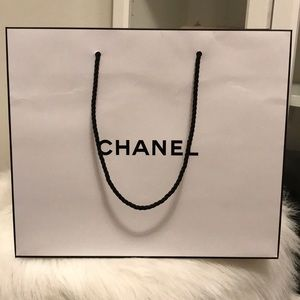 Authentic CHANEL White Shopping Bag